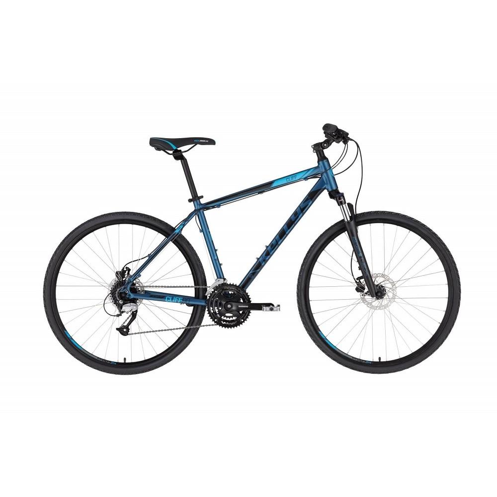 """Pánsky crossový bicykel KELLYS CLIFF 90 28"""" - model 2021 Deep Blue - S (17'') - Záruka 10 rokov"""