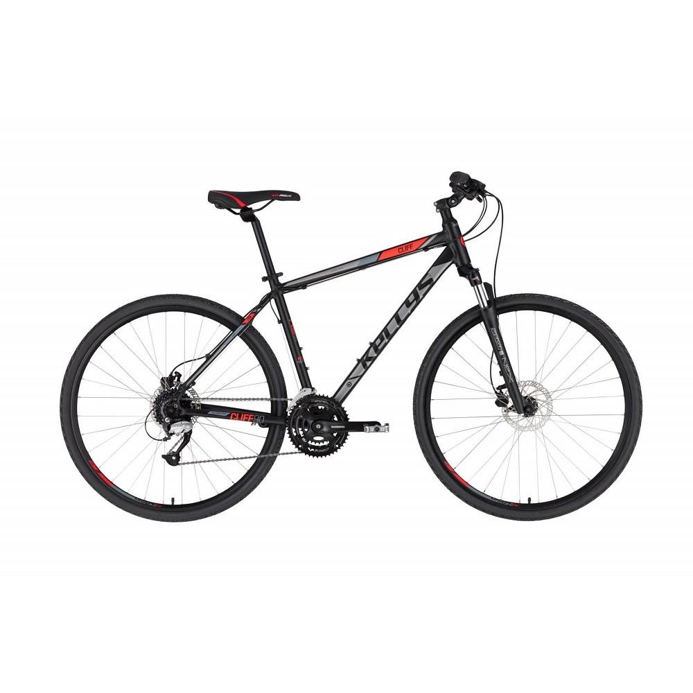 """Pánsky crossový bicykel KELLYS CLIFF 90 28"""" - model 2021 Black Red - S (17'') - Záruka 10 rokov"""