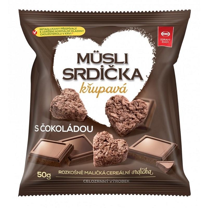 Müsli srdiečka chrumkavé Semix čokoláda