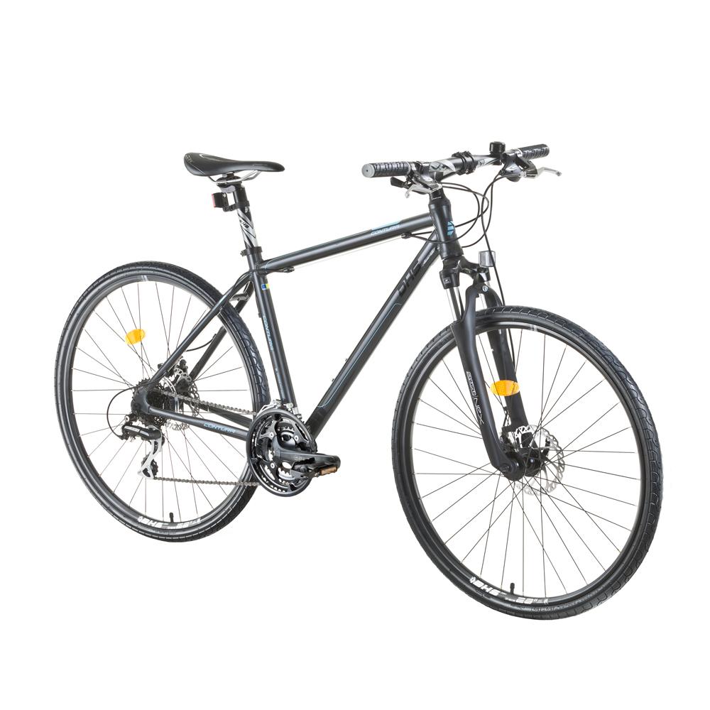 "Crossový bicykel DHS Contura 2867 28"" - model 2015 Grey - 21"" - Záruka 10 rokov"