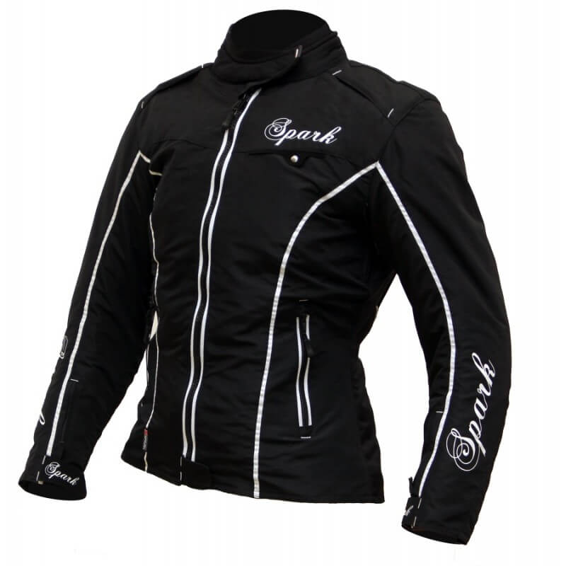 Dámska textilná moto bunda Spark Nora čierna - XXS
