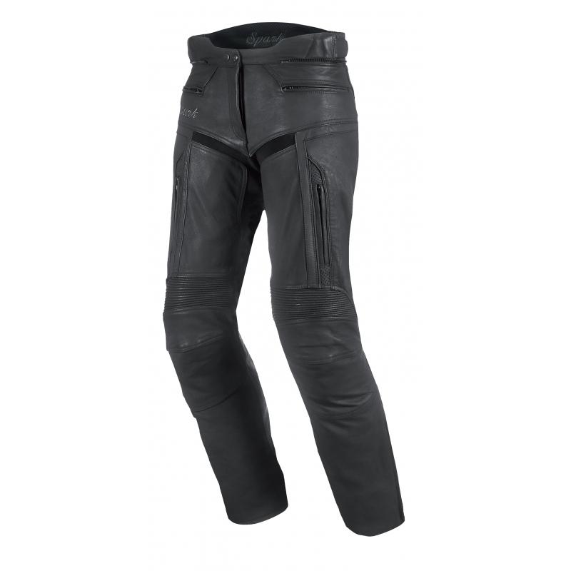 Dámske kožené moto nohavice Spark Virginia čierna - 3XL