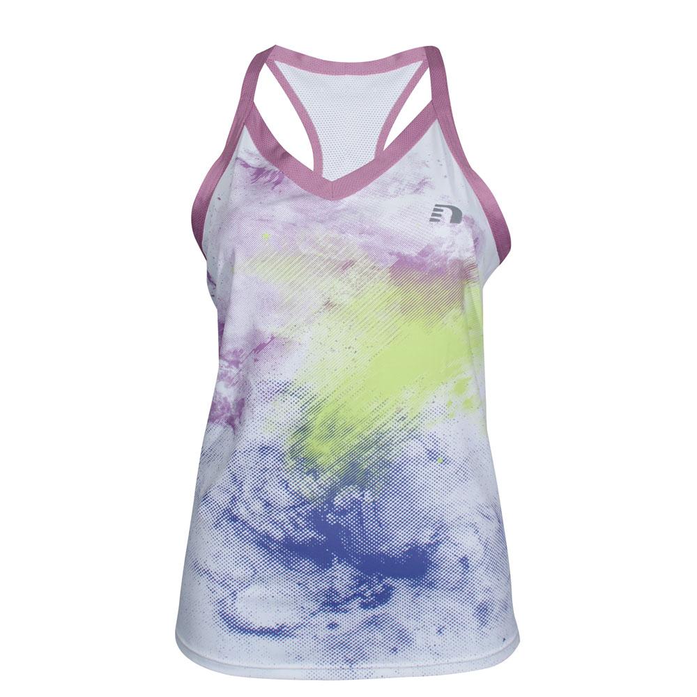 be1d81897af6 Dámske športové tielko Newline Imotion Print Tank - biela. Športové funkčné  tričko ...