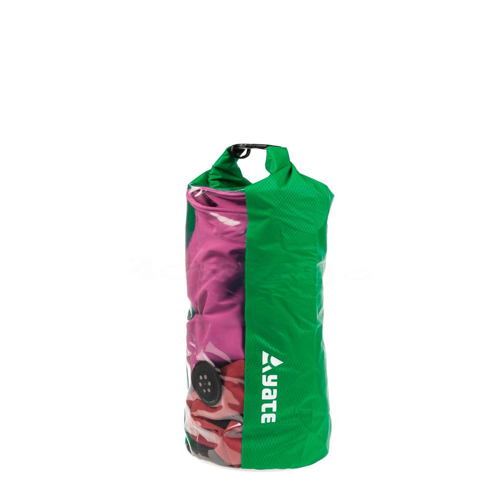 Nepremokavý vak s oknom a ventilom Yate Dry Bag 10l zelená