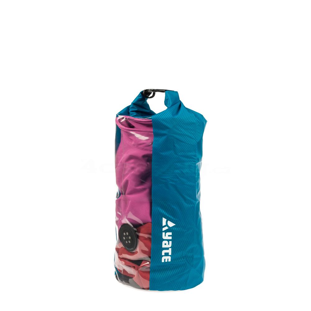 Nepremokavý vak s oknom a ventilom Yate Dry Bag 10l modrá