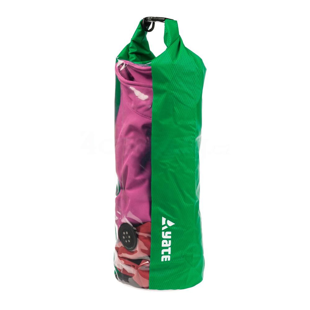 Nepremokavý vak s oknom a ventilom Yate Dry Bag 15l zelená