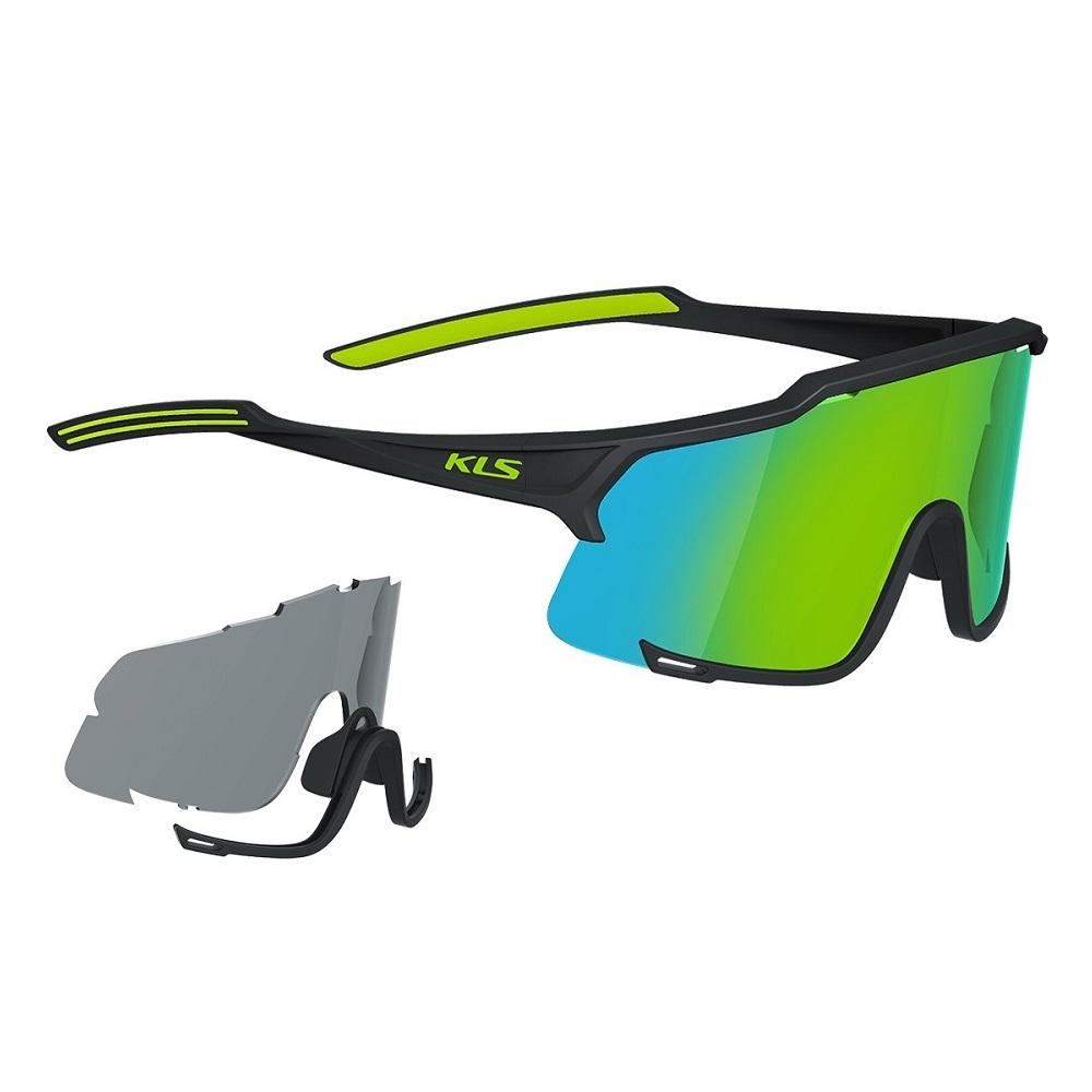 Cyklistické okuliare Kellys Dice Photochromic Black-Lime