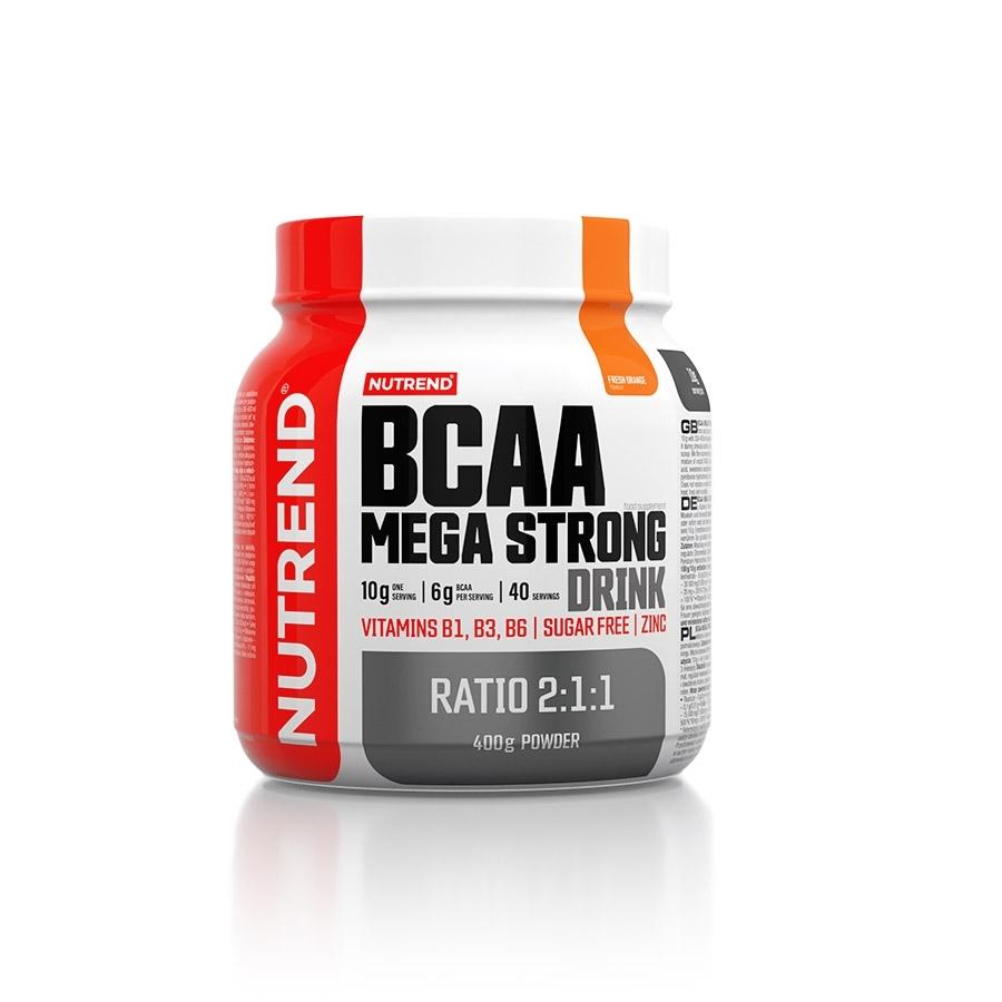 Aminokyseliny Nutrend BCAA Mega Strong Drink (2:1:1) 400g pomaranč