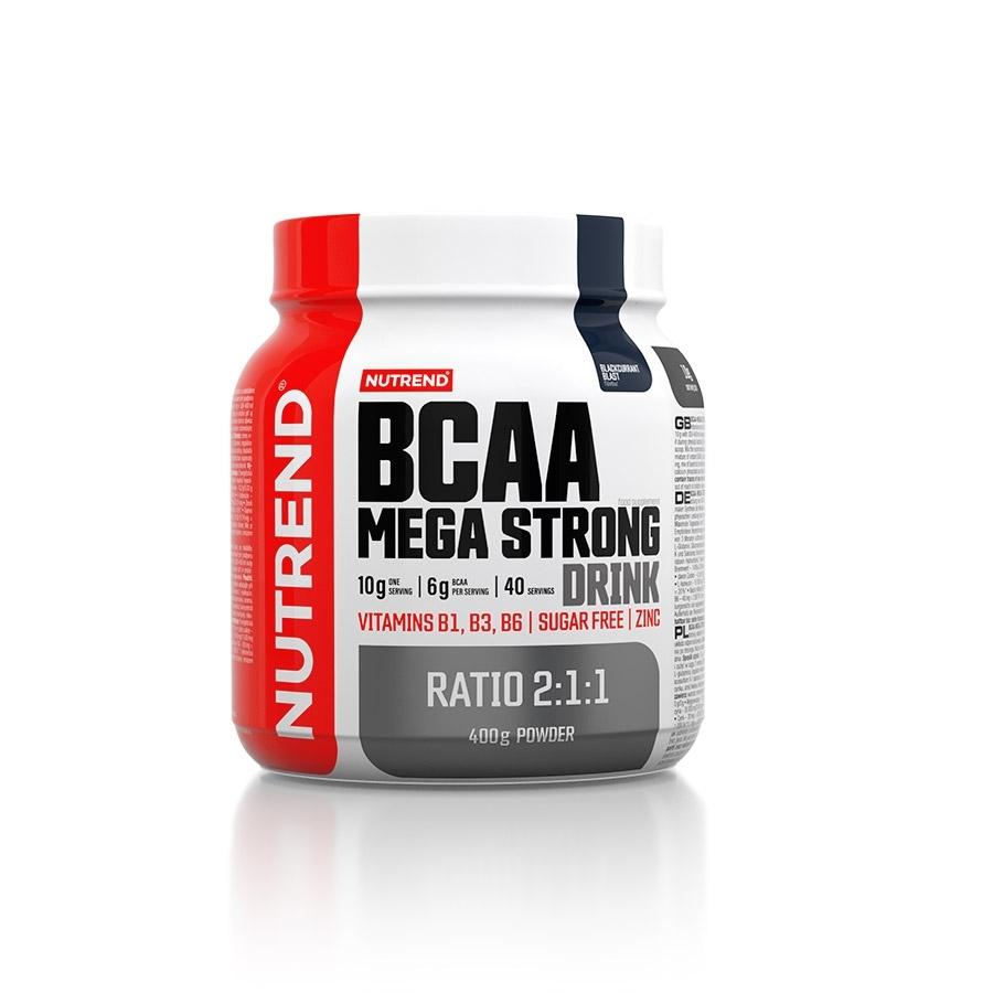 Aminokyseliny Nutrend BCAA Mega Strong Drink (2:1:1) 400g čierna ríbezľa