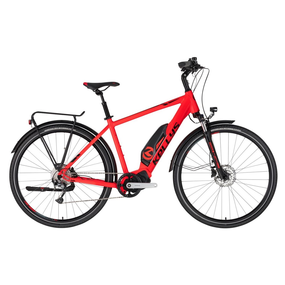 "Trekingový elektrobicykel KELLYS E-Carson 50 28"" - model 2020 Red - M (19'') - Záruka 10 rokov"