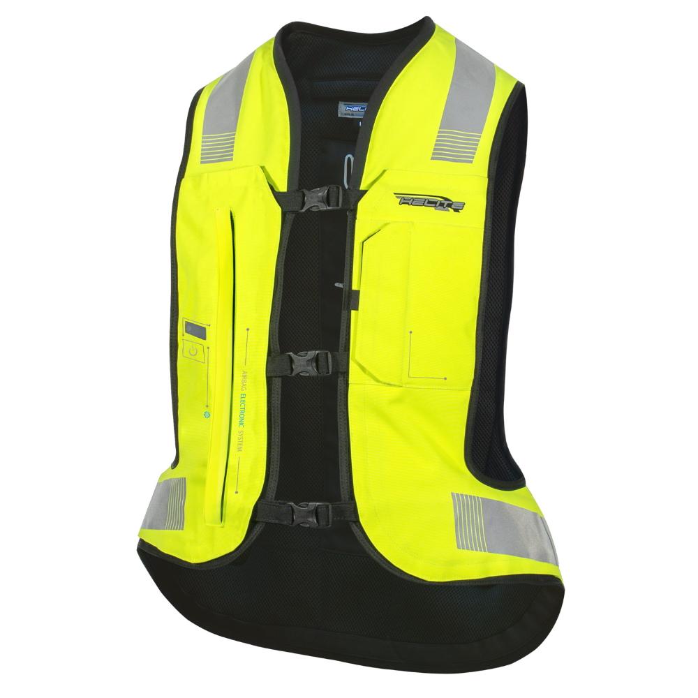 Airbagová vesta Helite e-Turtle HiVis žltá - XS