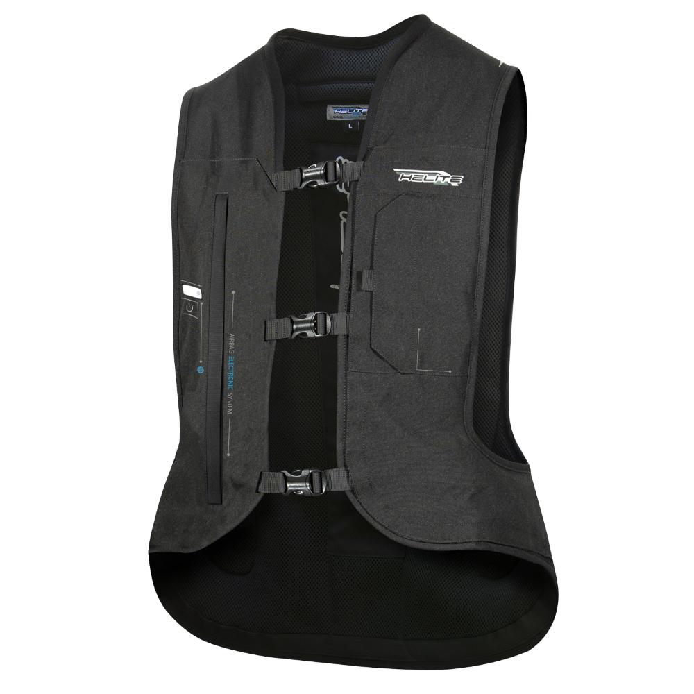 Airbagová vesta Helite e-Turtle čierna rozšírená čierna - L