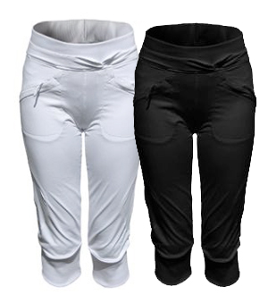Dámske elastické 3/4 nohavice ALEA