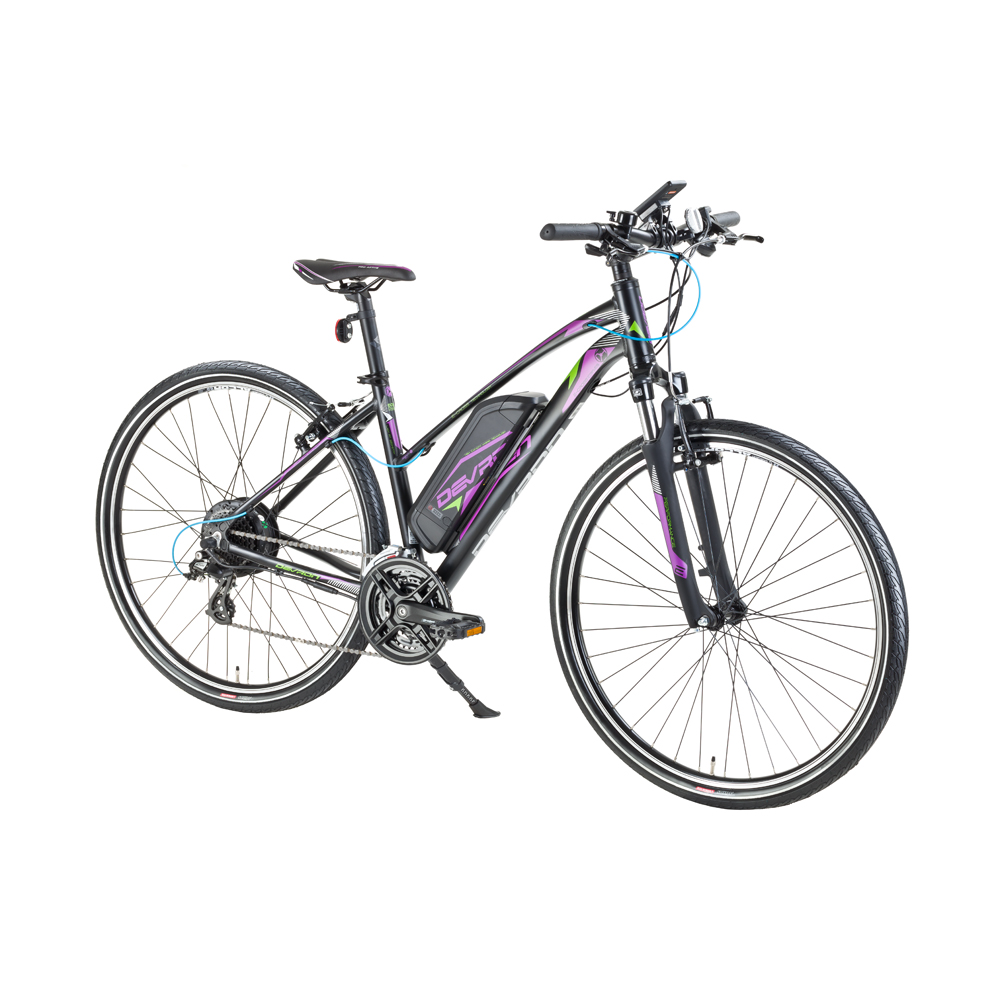 """Dámsky crossový elektrobicykel Devron 28162 28"""" - model 2017 Black - 19,5"""" - Záruka 10 rokov"""