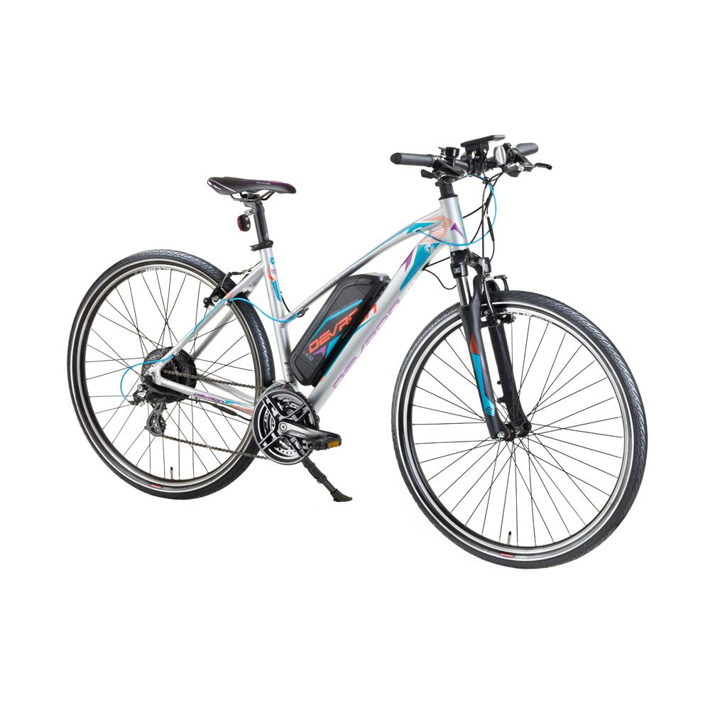"""Dámsky crossový elektrobicykel Devron 28162 28"""" - model 2017 Grey - 19,5"""" - Záruka 10 rokov"""
