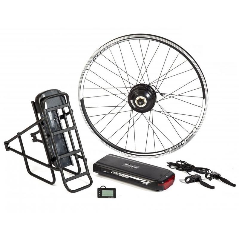 """Elektrosada CRUSSIS pre 26"""" bicykle, V-brzdy, nosičová batéria, nosič"""