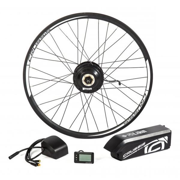 """Elektrosada CRUSSIS pre 27,5"""" bicykle, diskové brzdy, rámová batéria"""