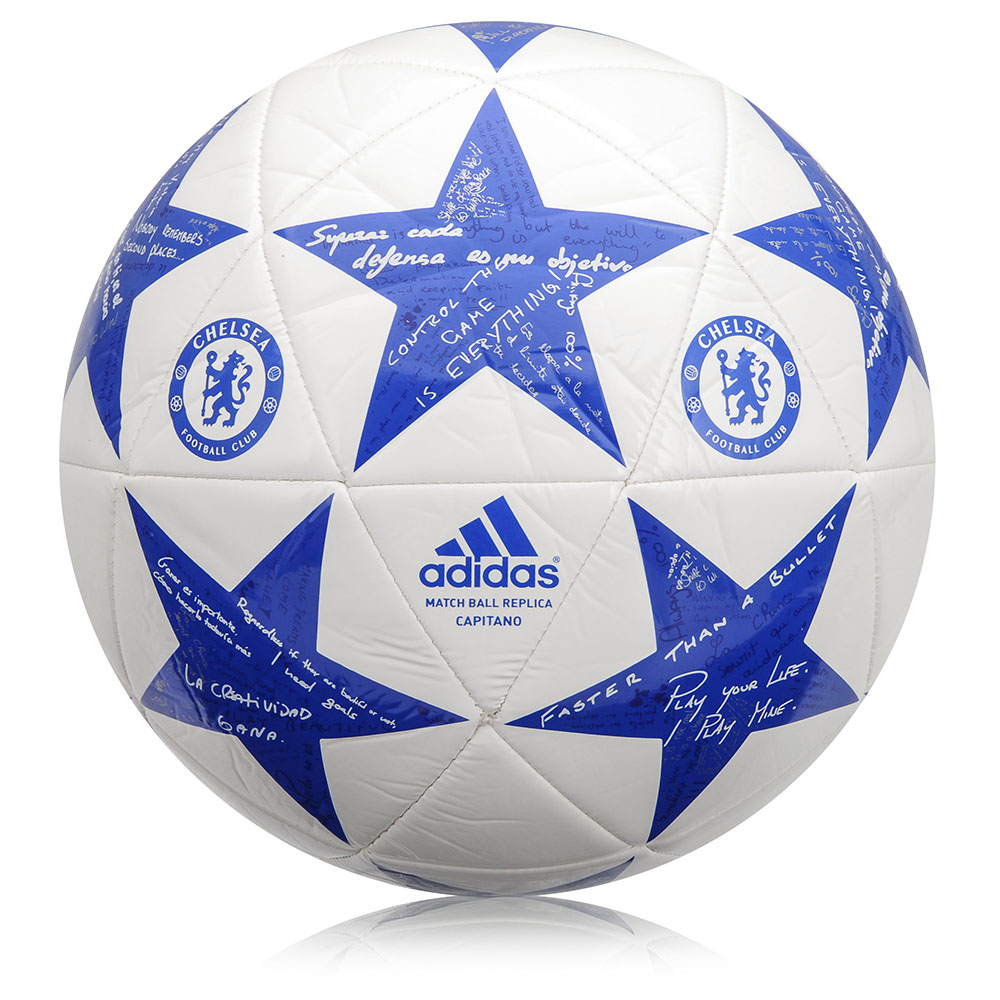 c2e7df68e Futbalová lopta Adidas Capitano Finale 15 Chelsea AP0396 bielo-modrá