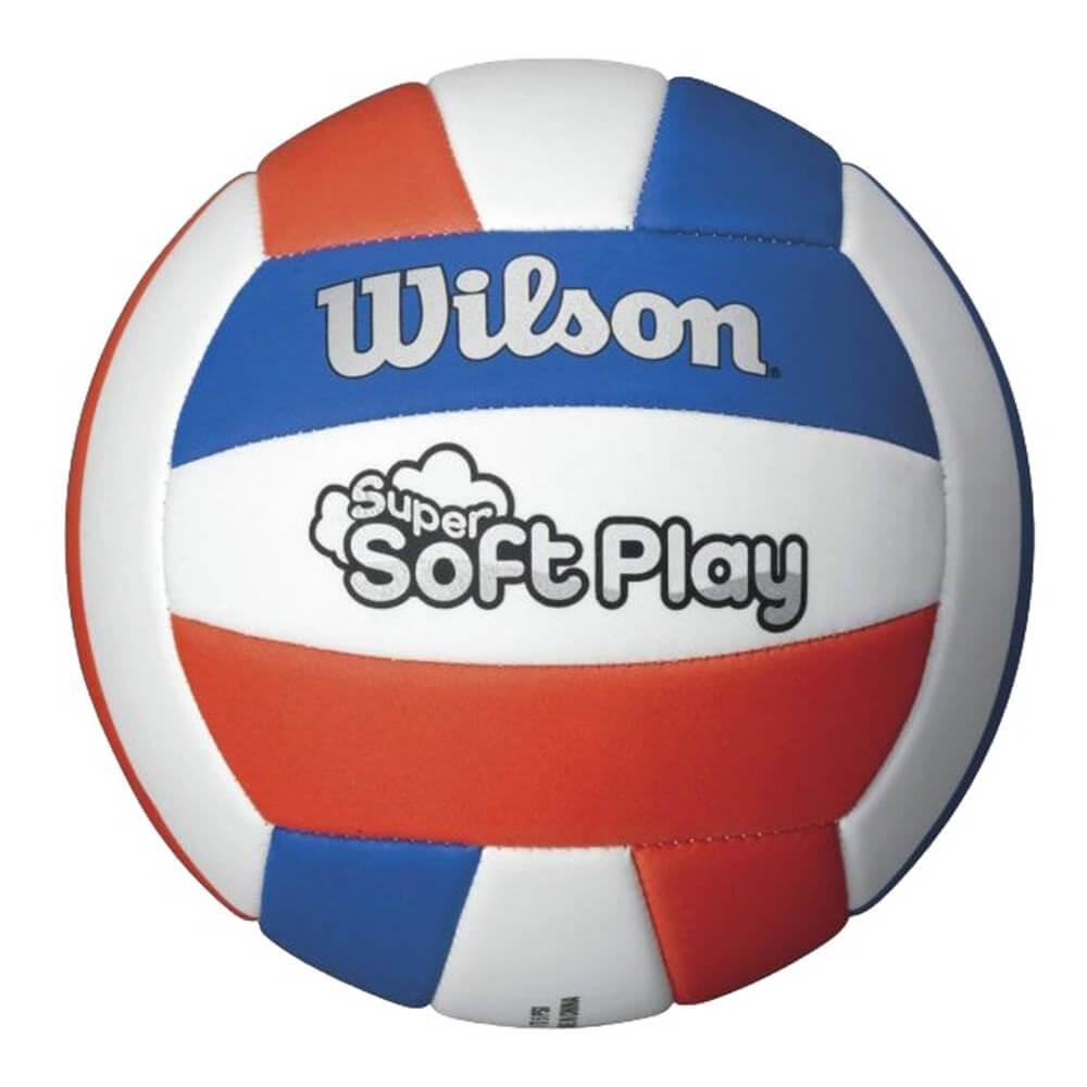 59d8313a73a Volejbalová lopta Wilson Super Soft Play WTH3595XB bielo-modro-červená