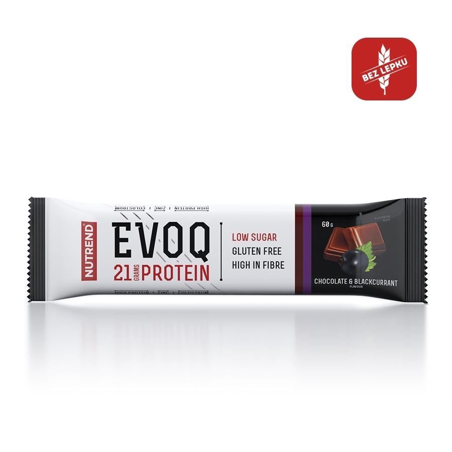 Proteinová tyčinka Nutrend EVOQ 60g čokoláda a čierna ríbezla