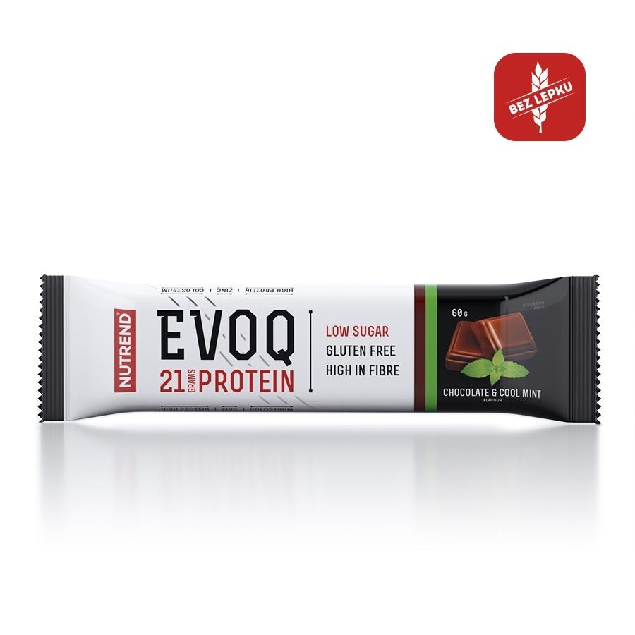 Proteinová tyčinka Nutrend EVOQ 60g čokoláda a mäta