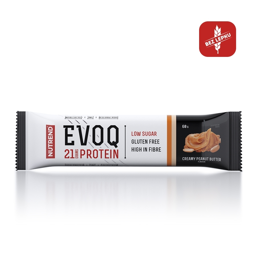 Proteinová tyčinka Nutrend EVOQ 60g arašidové maslo