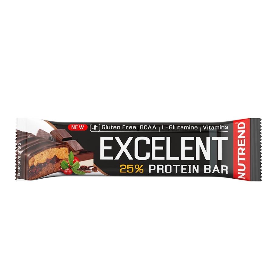 Proteínová tyčinka Nutrend Excelent Bar Double, 85 g čokoláda+nugát s brusinkami