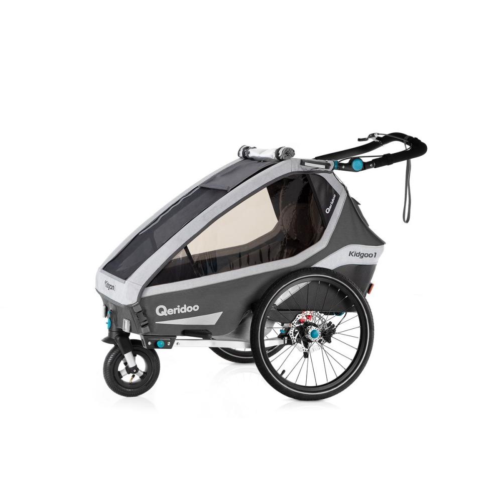 Multifunkčný detský vozík Qeridoo KidGoo 1 Sport Anthracite Grey