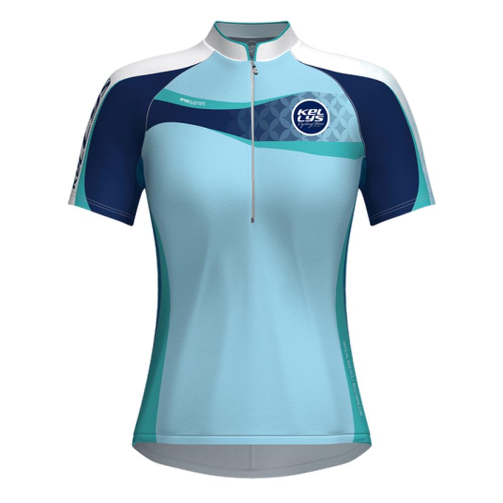 Dámsky cyklistický dres KELLYS Faith - krátky rukáv modrá - S