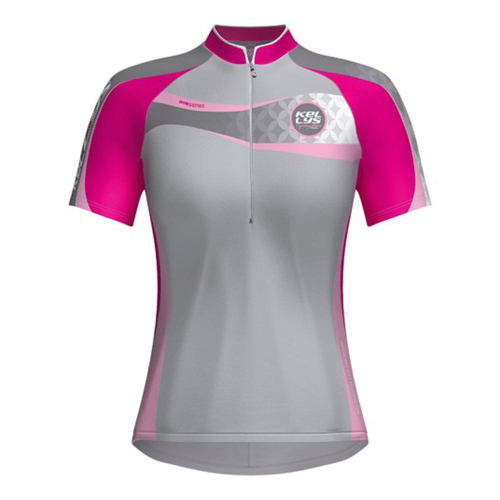 Dámsky cyklistický dres KELLYS Faith - krátky rukáv ružová - S