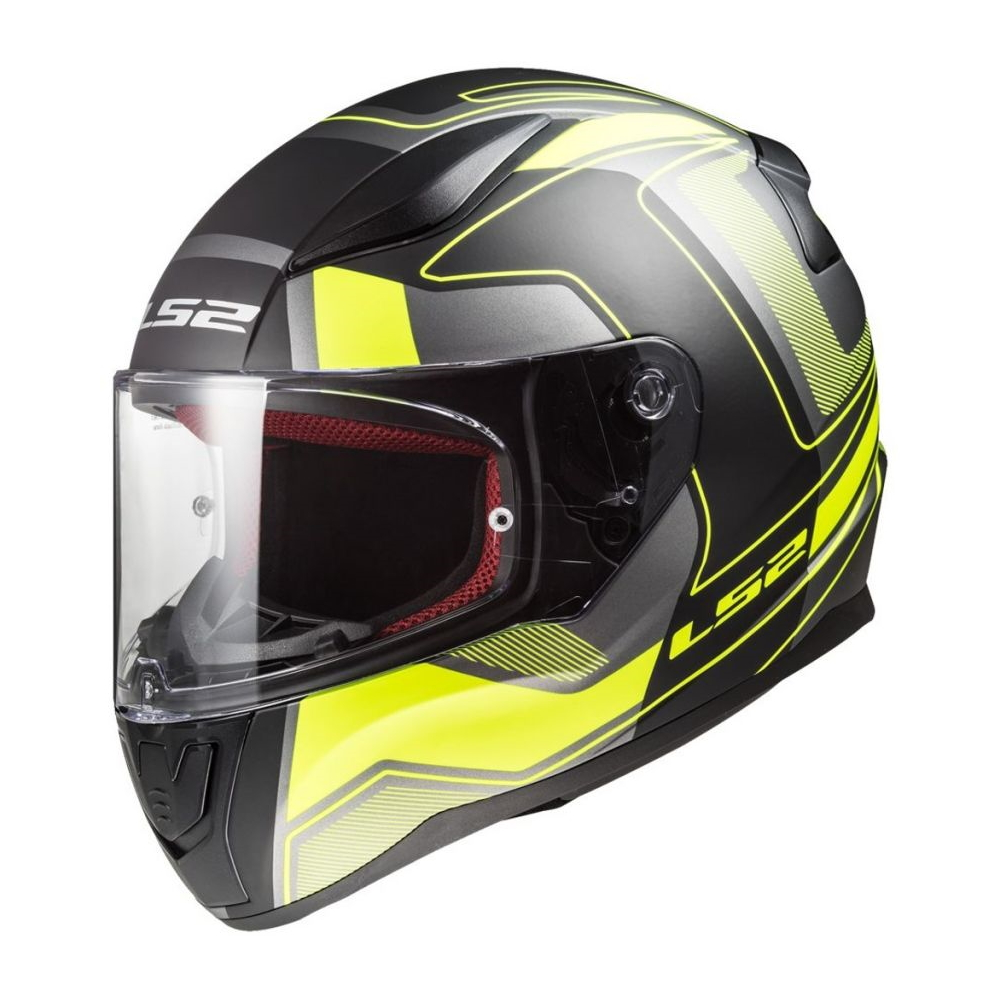 Moto prilba LS2 FF353 Rapid Carrera Black H-V Yellow XS (53-54)