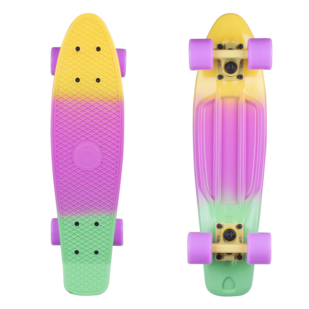 Penny board Fish Classic 3Colors 22 YellowSummer PurpleGreen-Yellow-Summer Purple