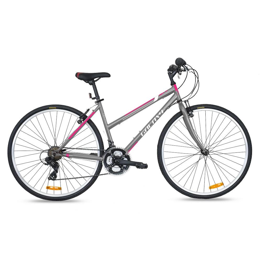 "Dámsky crossový bicykel Galaxy Andromeda 28"" - model 2018 šedá"