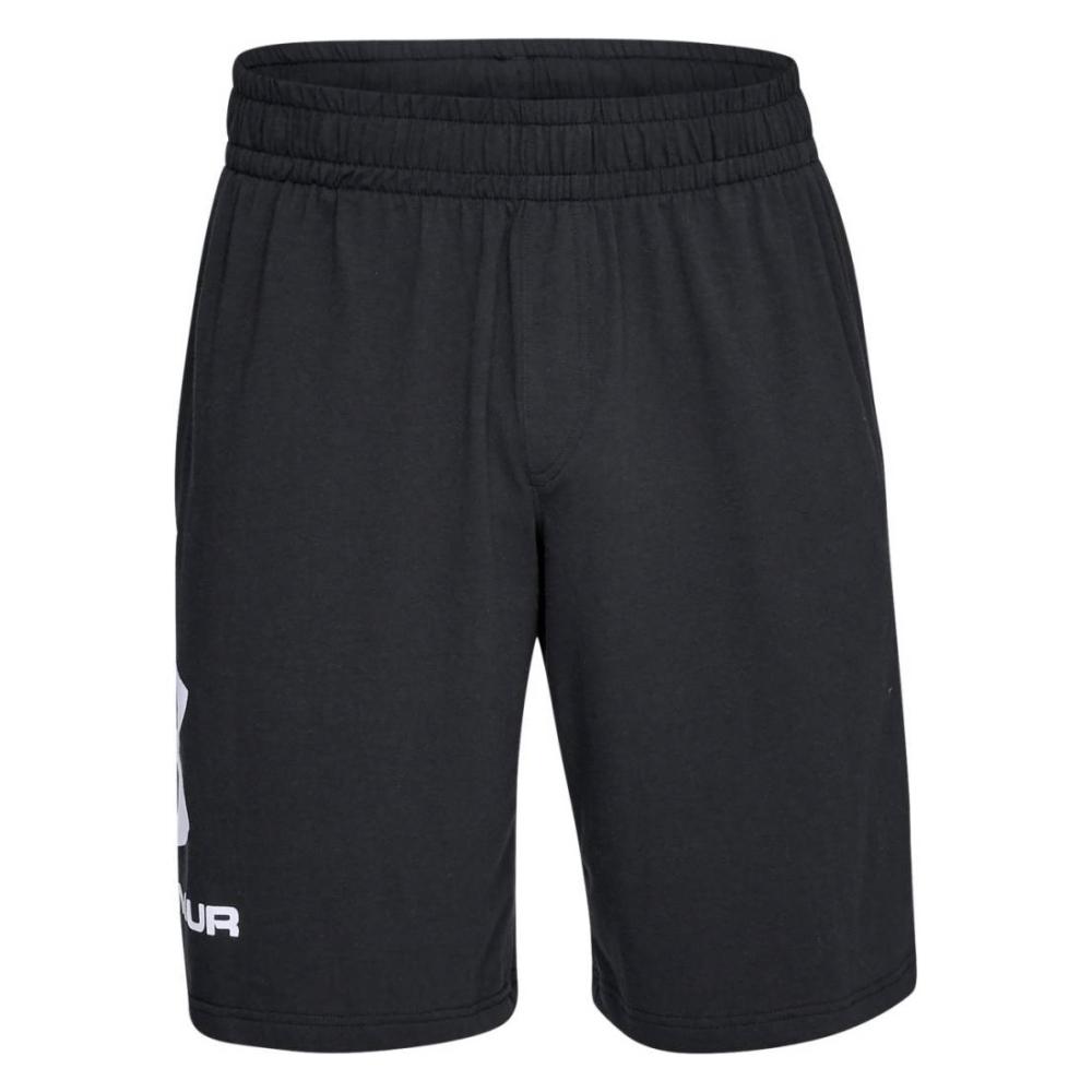 Pánske športové kraťasy Under Armour Sportstyle Cotton Graphic Short Black/White - XL