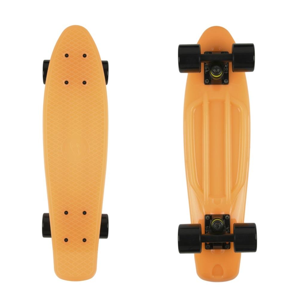 "Svietiaci penny board Fish Classic Glow 22"" Orange-Black-Black"