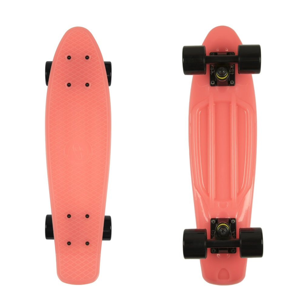 Svietiaci penny board Fish Classic Glow 22 Red-Black-Black