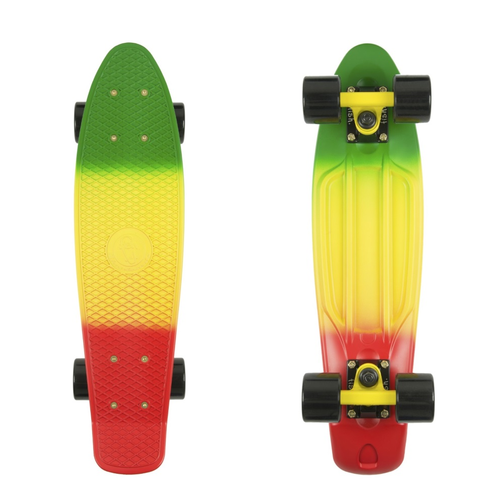 Penny board Fish Classic 3Colors 22 GreyYellowRed-Black-Black