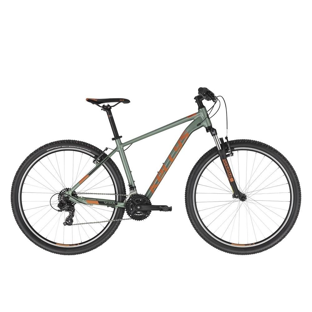 """Horský bicykel KELLYS SPIDER 10 29"""" - model 2021 Green - M (19'') - Záruka 10 rokov"""