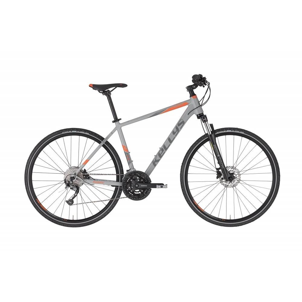 """Pánsky crossový bicykel KELLYS PHANATIC 30 28"""" - model 2021 Grey - M (19'') - Záruka 10 rokov"""