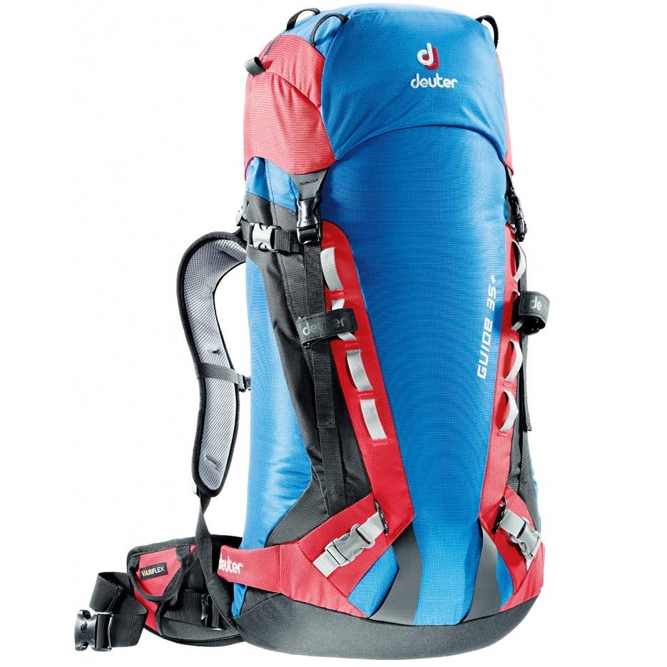 Horolezecký batoh DEUTER Guide 35+ 2016 - modro-červená 06efa246ba1