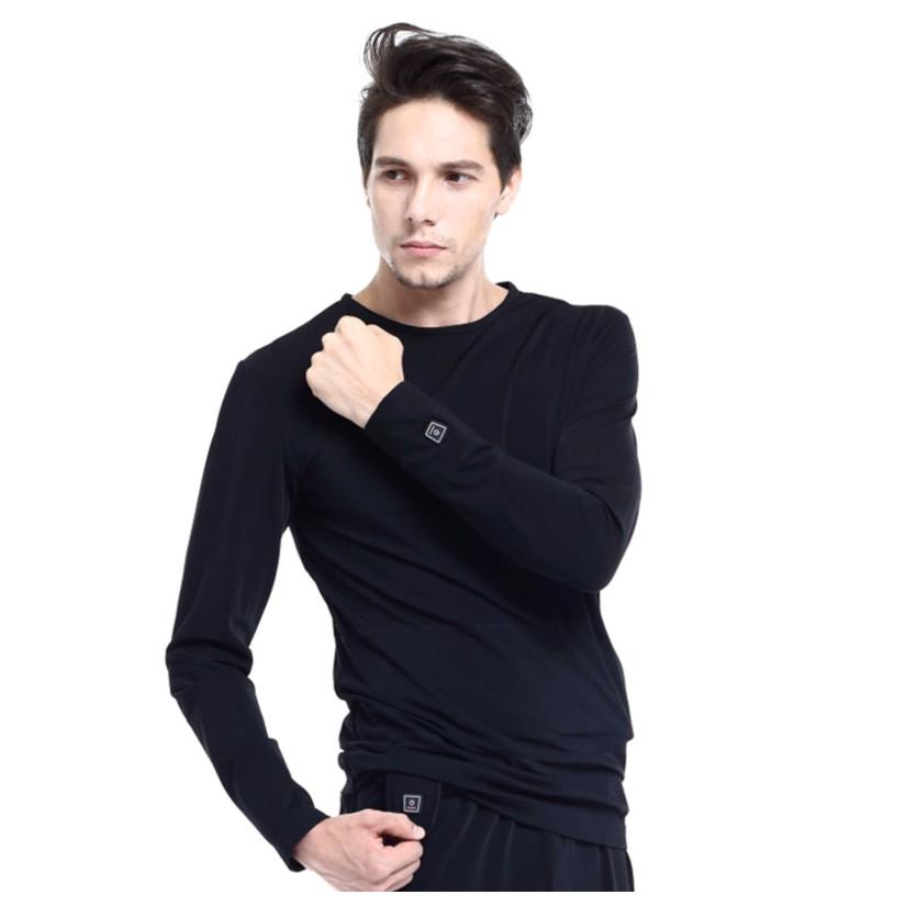Vyhrievané tričko s dlhým rukávom Glovii GJ1 čierna - L