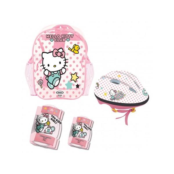 Set chráničov a helmy Hello Kitty s taškou