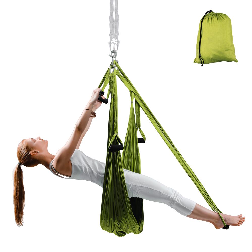 Popruhy na aero jogu inSPORTline Hemmok zelená