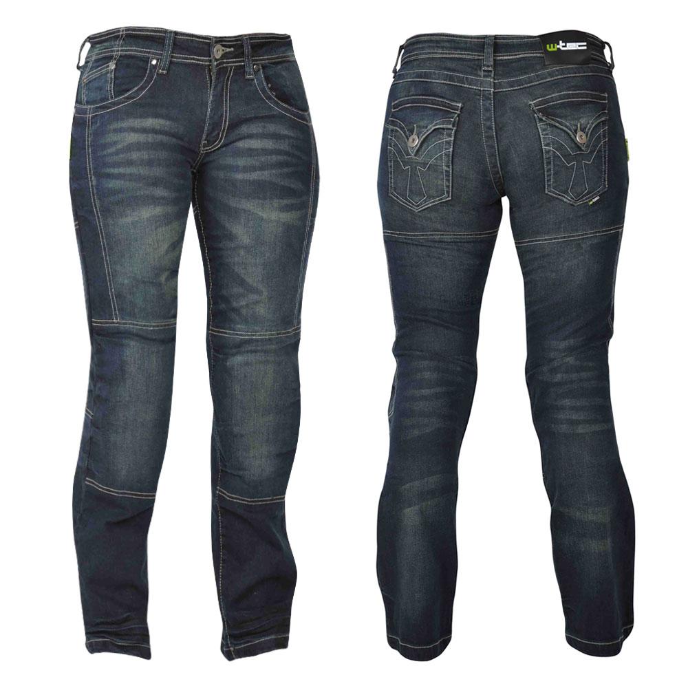 Dámske motocyklové jeansy W-TEC Alinna tmavo modrá - 10/XS