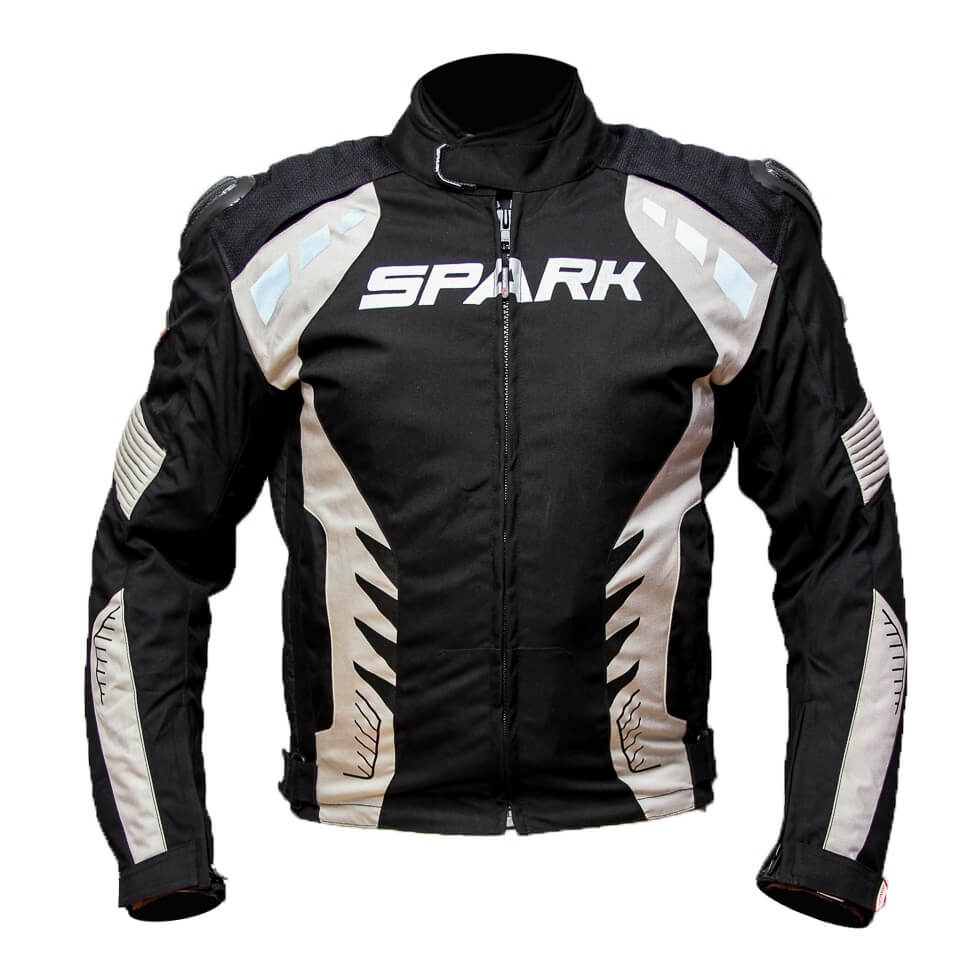 Pánska textilná moto bunda Spark Hornet čierna - 5XL