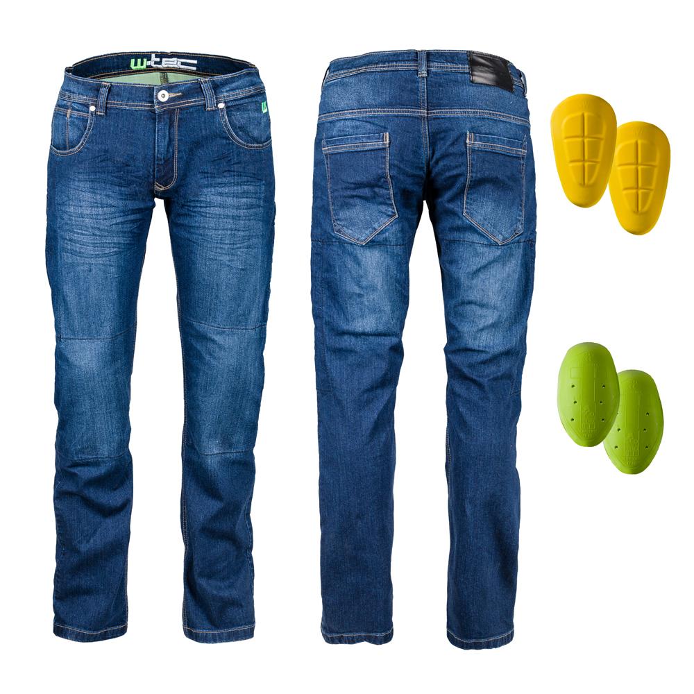 Pánske moto jeansy W-TEC R-1027 modrá - 46