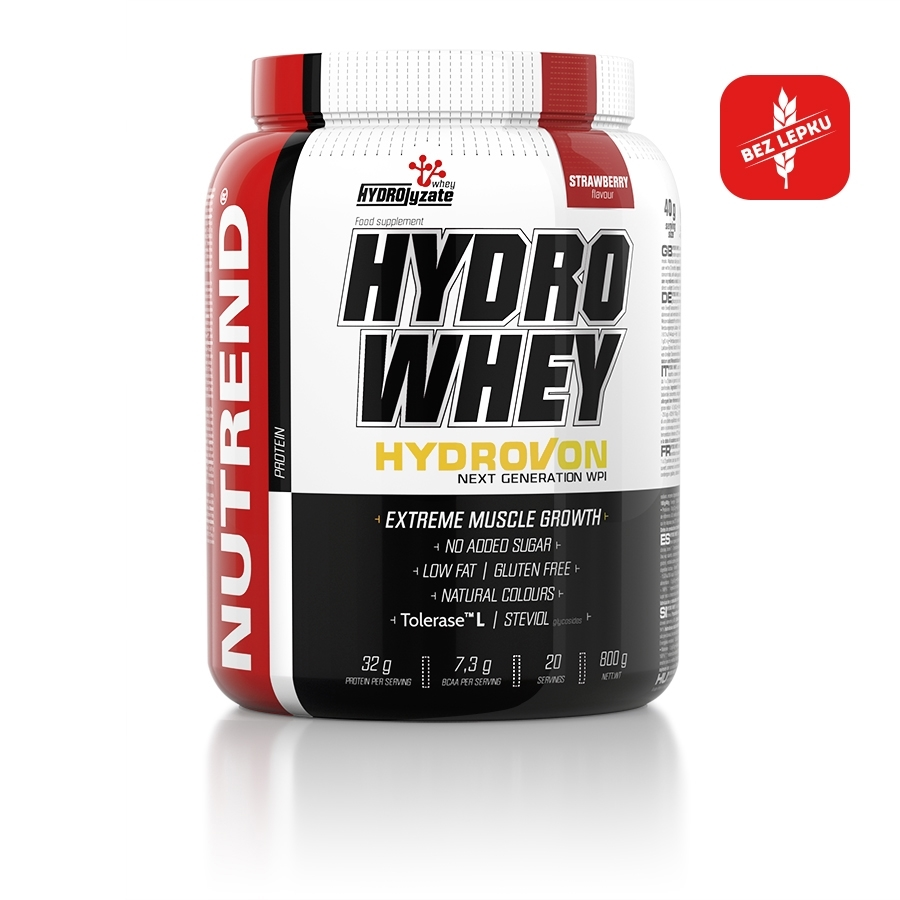 Izolát natívnej srvátkovej bielkoviny Nutrend Hydro Whey 800g vanilka