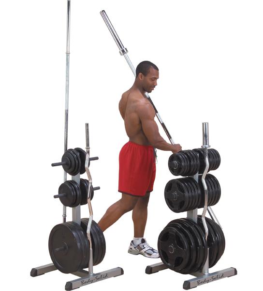 Stojan na tyče a závažia Body-Solid GOWT Olympic 2v1