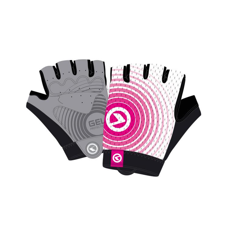 Cyklo rukavice Kellys Instinct Short bielo-ružová - XL
