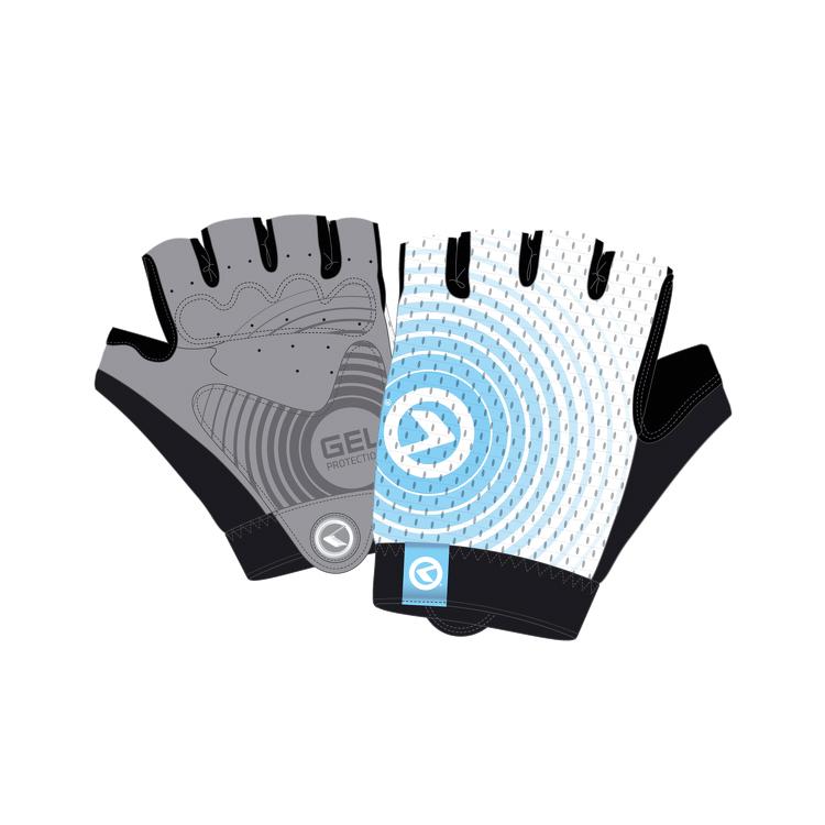 Cyklo rukavice Kellys Instinct Short bielo-modrá - XL